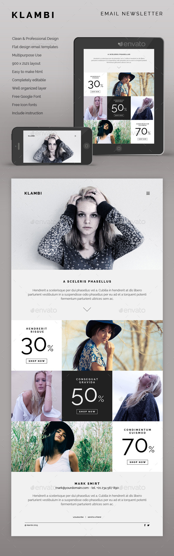 Klambi Email Newsletter II - E-newsletters Web Elements