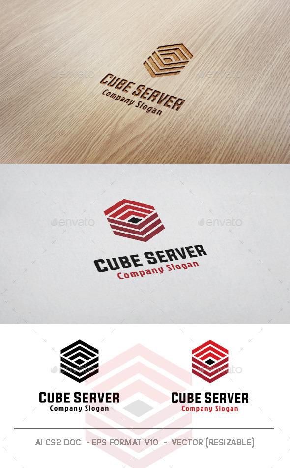 Cube Server Logo - Abstract Logo Templates