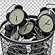 Alarm Clocks Falling Into Trash Bin - VideoHive Item for Sale
