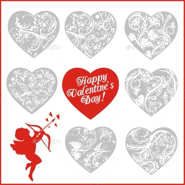Red Hearts -  Valentines Day. - Valentines Seasons/Holidays
