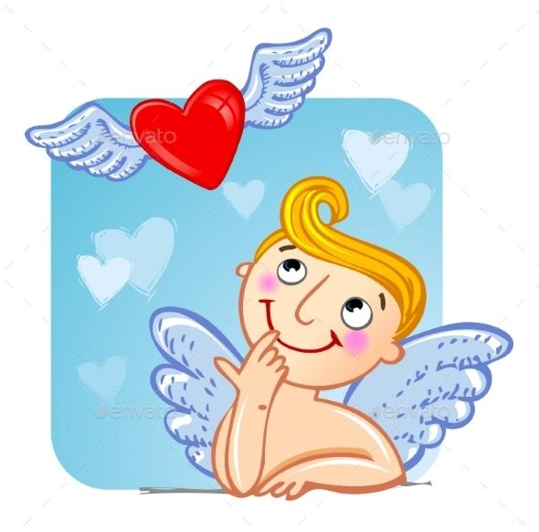 Cupid in Love.  - Valentines Seasons/Holidays