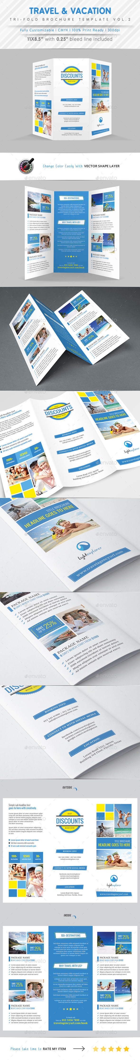 Travel Agency Tri Fold Brochure Vol.2 - Corporate Brochures