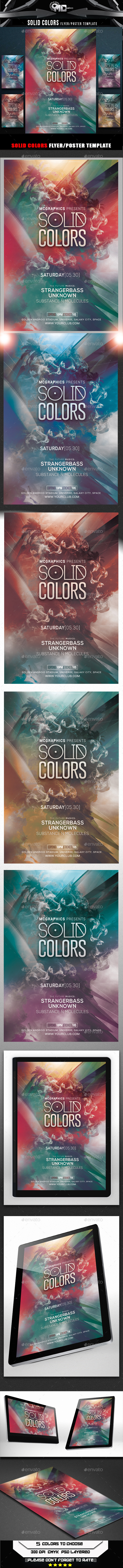 Solid Colors Flyer Template - Flyers Print Templates