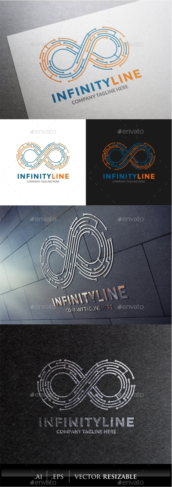 Infinity Line Logo  - Abstract Logo Templates