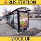 6 Bus Station Mock Ups - GraphicRiver Item for Sale