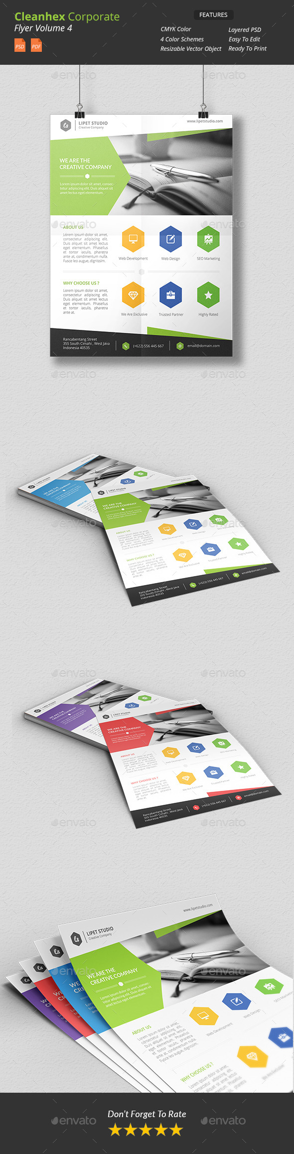 Cleanhex - Clean Corporate Flyer v4 - Corporate Flyers