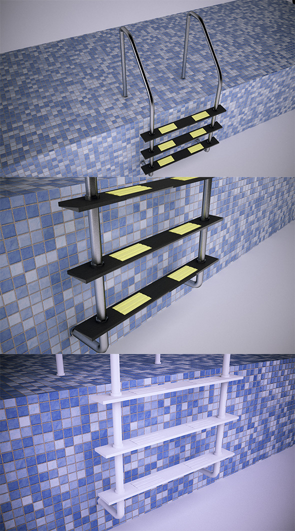Pool Ladder (VrayC4D) - 3DOcean Item for Sale