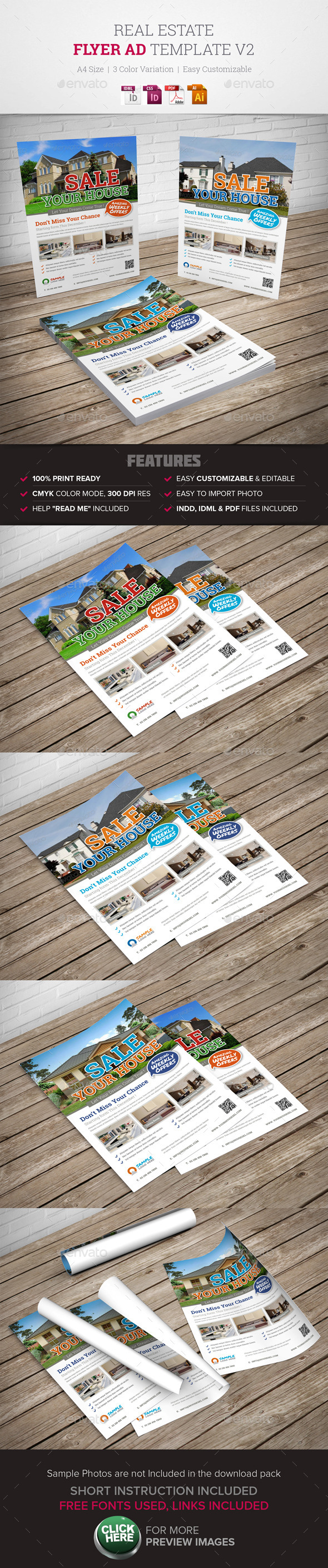 Real Estate Flyer Ad v2  - Corporate Flyers