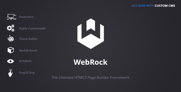 WebRock - Page Builder Framework for HTML5 - CodeCanyon Item for Sale