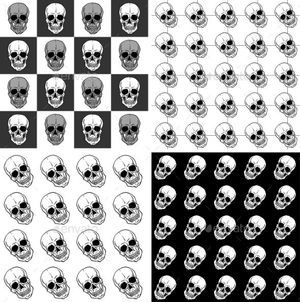Patterns with Skulls - Patterns Decorative