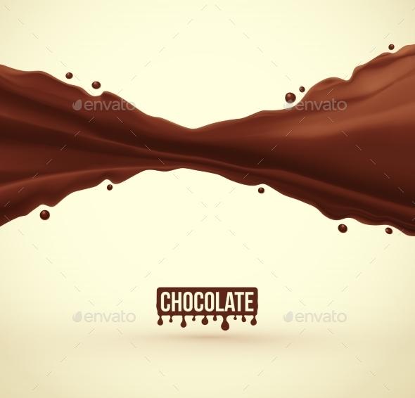 Chocolate Splash - Food Objects