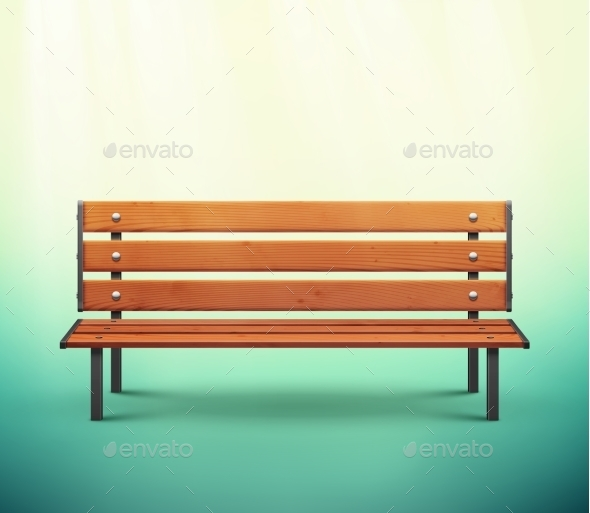 Isolated Bench - Man-made Objects Objects