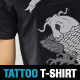 Carp Tattoo Vector Illustration T-Shirt Template - GraphicRiver Item for Sale