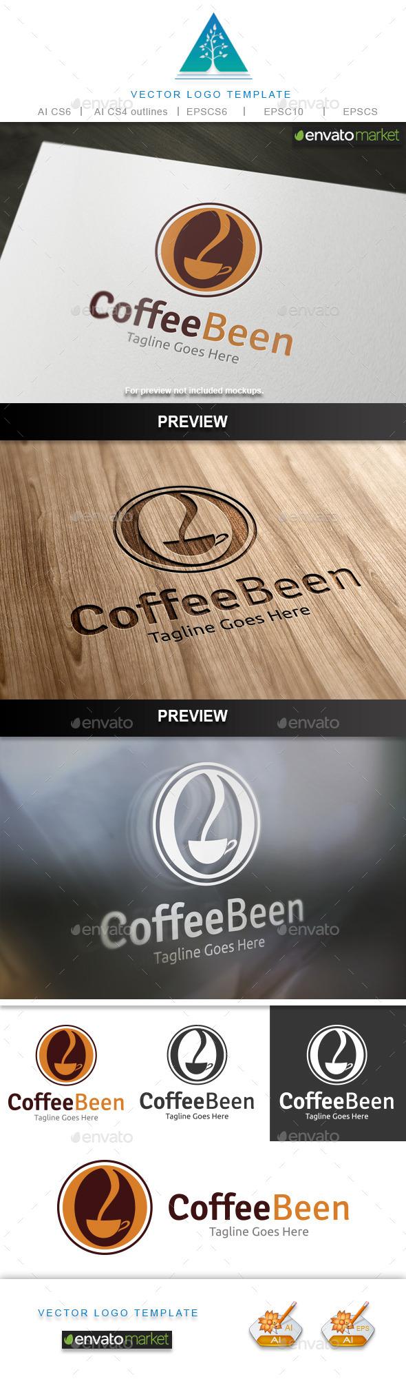 Coffee Been Logo - Food Logo Templates