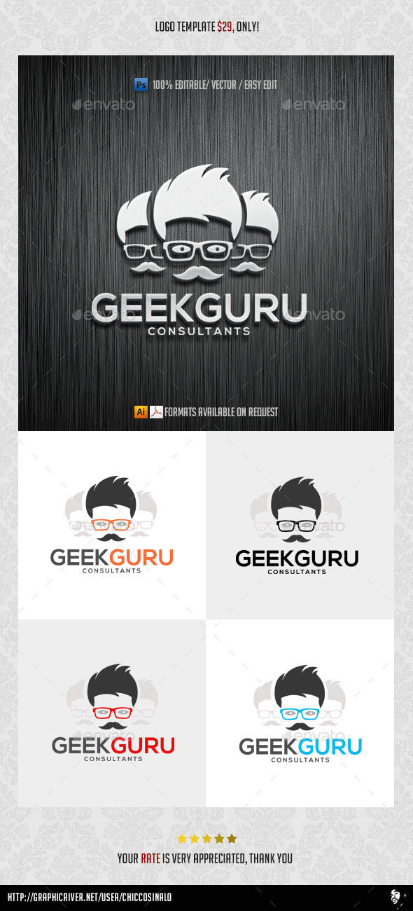 Geek Guru Logo Template - Abstract Logo Templates