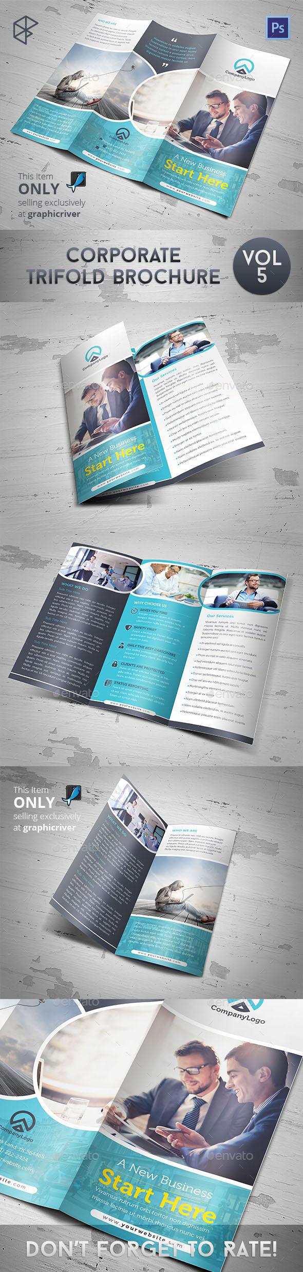 Corporate Trifold Brochure Vol 5 - Corporate Brochures