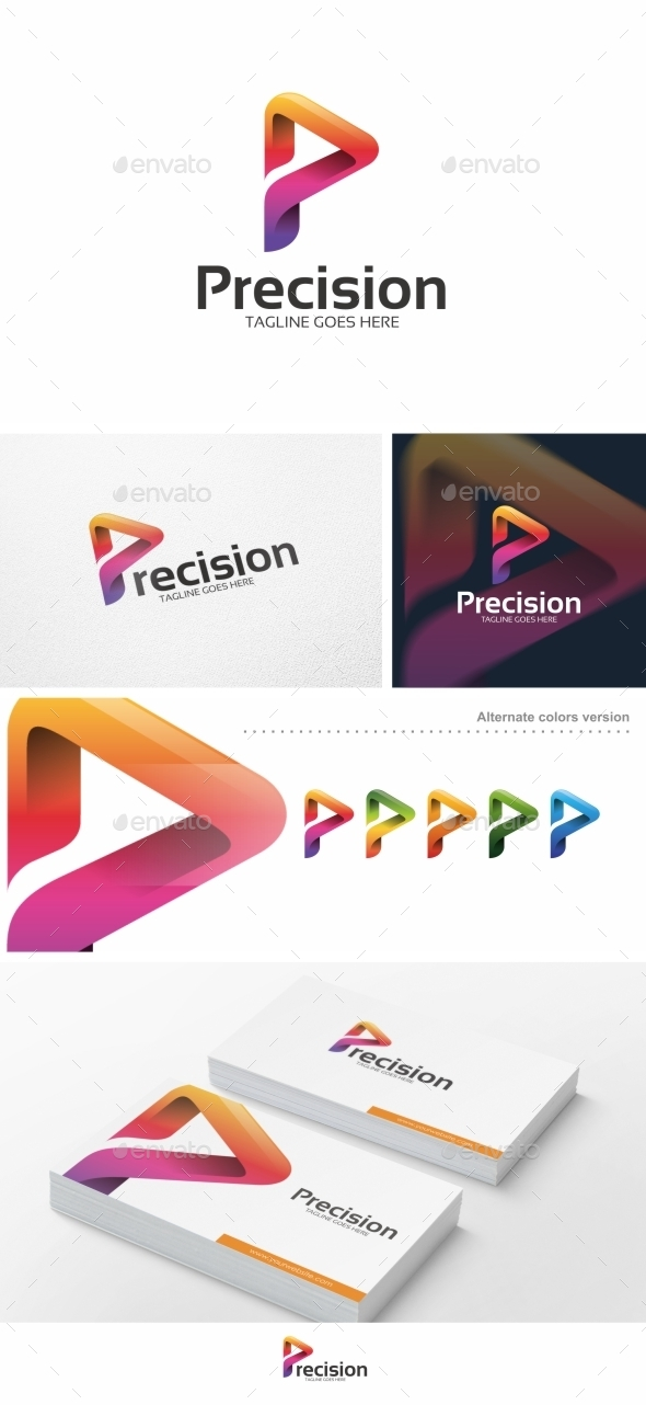 Abstract P Letter - Logo Template - Letters Logo Templates