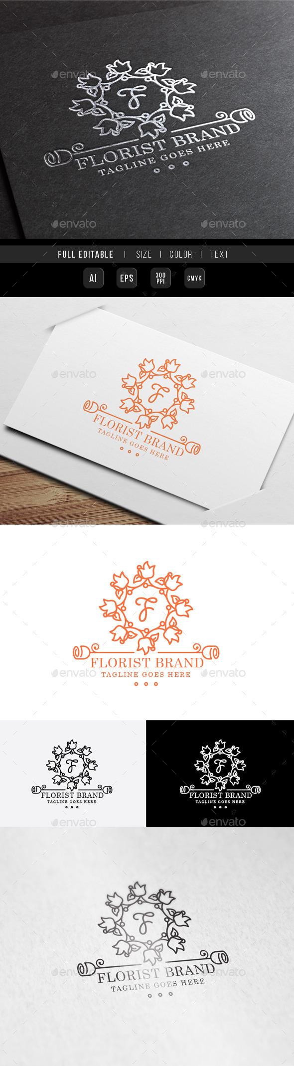 Florist Wedding Logo - Crests Logo Templates