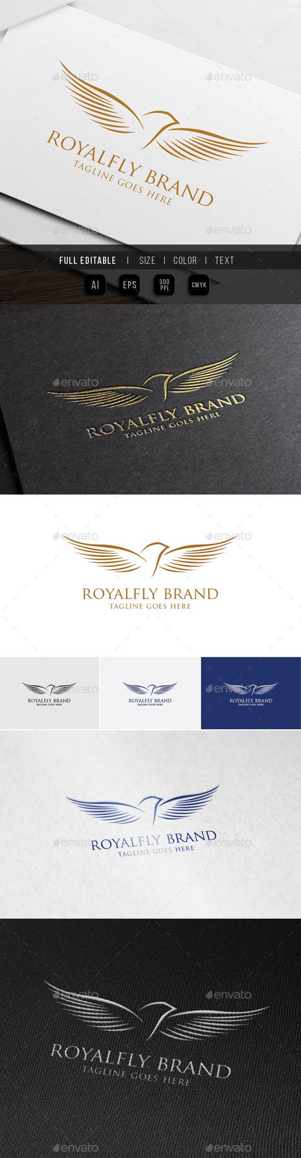Royal Luxury Fly Bird - Crests Logo Templates