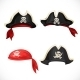 Set of Pirate Hats and Bandana with Jolly Roger - GraphicRiver Item for Sale