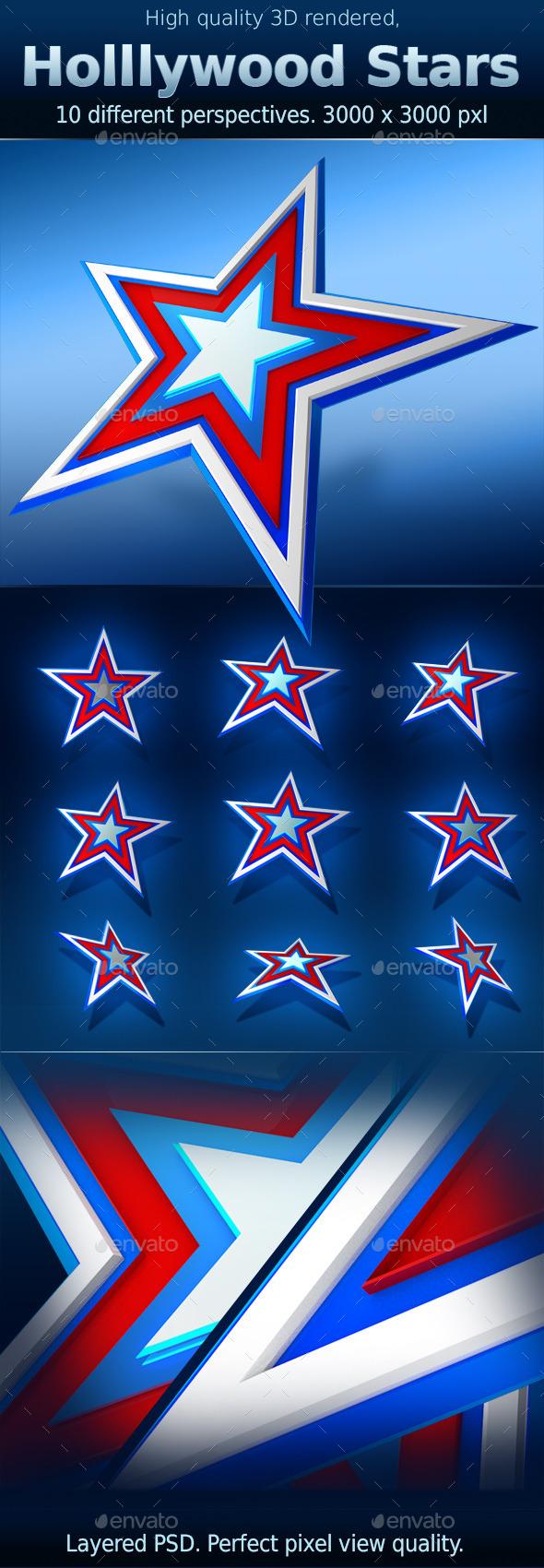 Hollywood Celebration Star - 3D Backgrounds