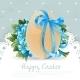 Blue Vintage Easter Banner with Egg  - GraphicRiver Item for Sale