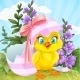 Baby Chick Hatched from an Easter Egg - GraphicRiver Item for Sale