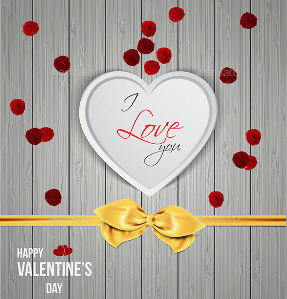 Heart Shape on Wooden Texture - Valentines Seasons/Holidays
