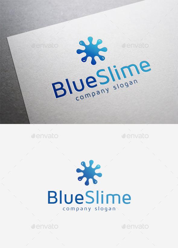 blue slime logo by emilguseinov graphicriver. Black Bedroom Furniture Sets. Home Design Ideas