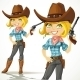 Blond Cowgirl with Revolver - GraphicRiver Item for Sale