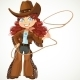 Curly Hair Cowgirl with Lasso - GraphicRiver Item for Sale