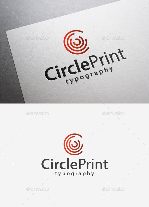 Circle Print Logo - Abstract Logo Templates