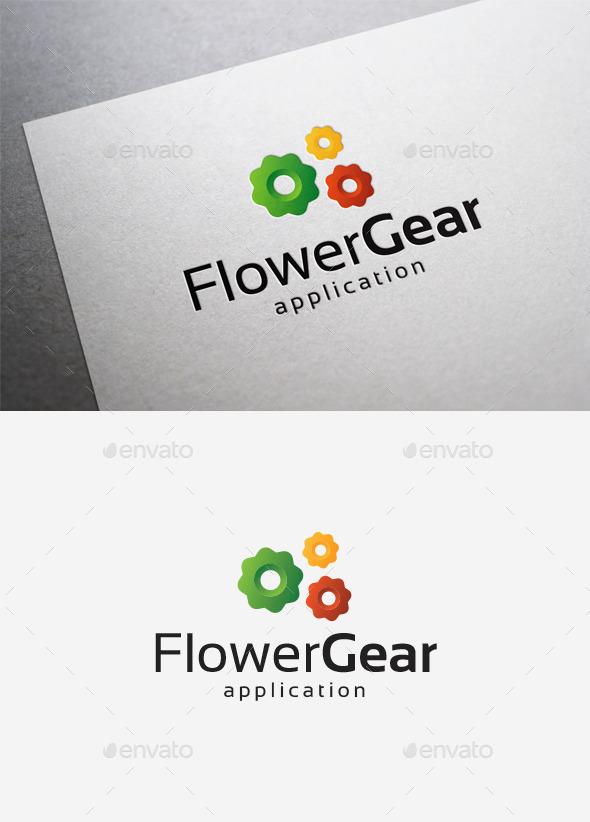Flower Gear Logo - Objects Logo Templates