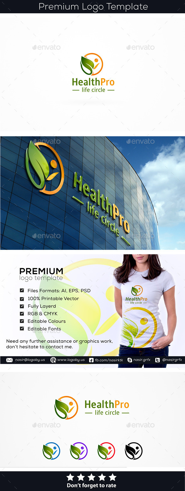 Healthy Person - Humans Logo Templates