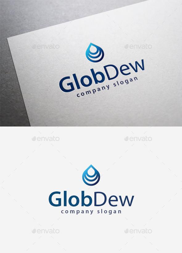 Glob Dew Logo - Symbols Logo Templates