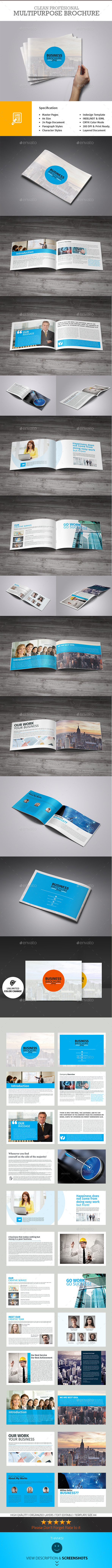 Business Plan - 24 Pages Business Brochure - Corporate Brochures