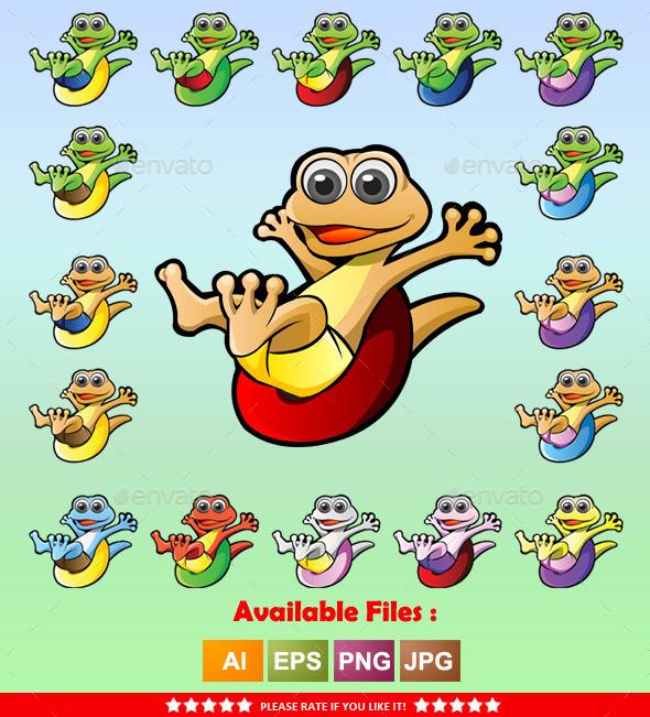 Gecko Mascot - Animals Characters