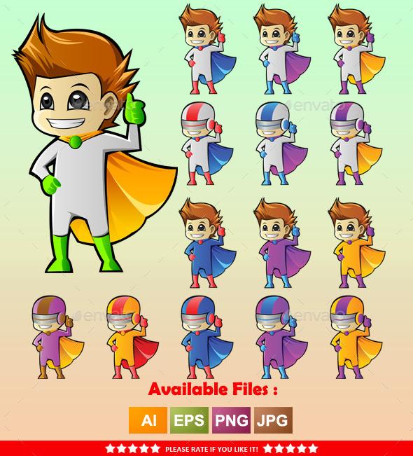 Superhero Mascot 2 - People Characters