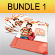 Creative Multipurpose Flyers Bundle 1 - GraphicRiver Item for Sale