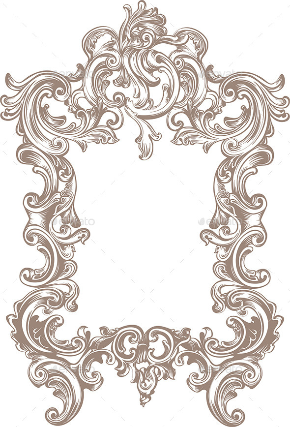 Frame Baroque - Borders Decorative