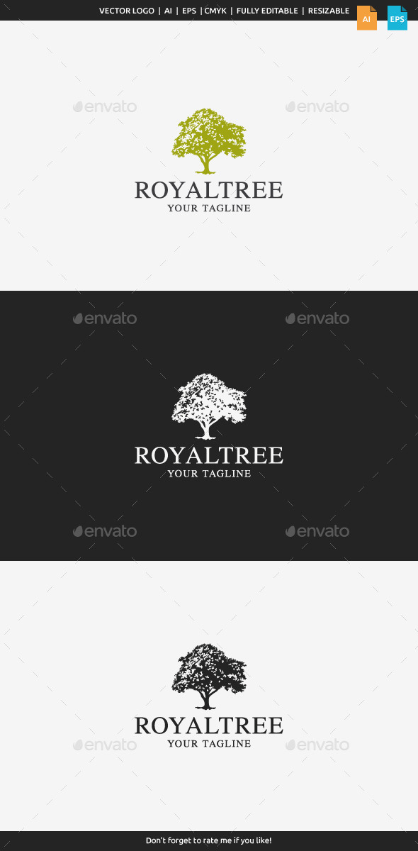 Royal Tree Logo - Nature Logo Templates