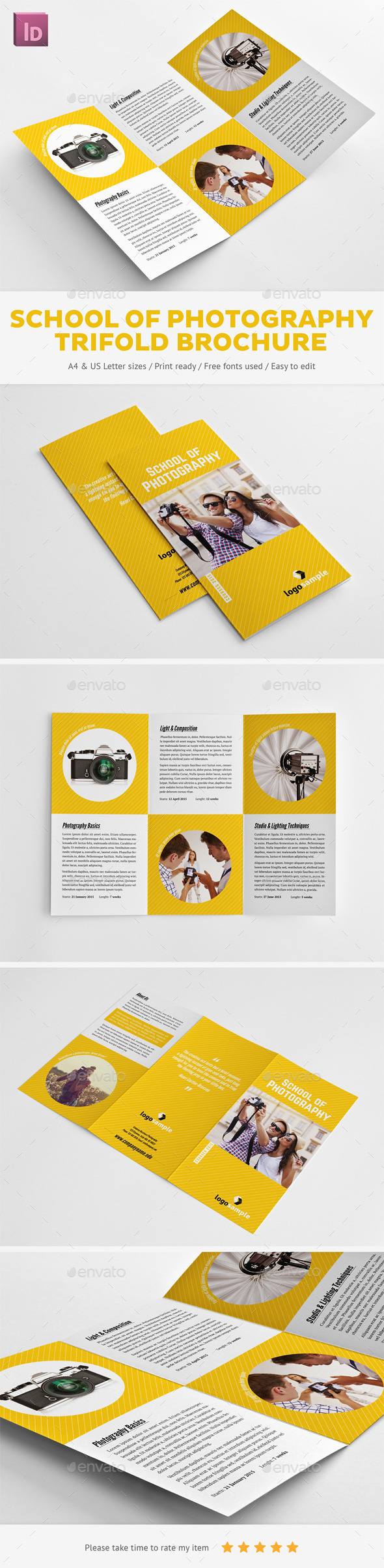 School of Photography Trifold Brochure - Informational Brochures