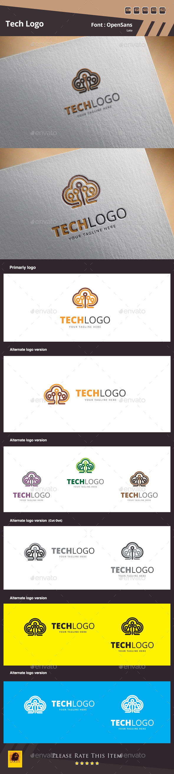 Tech Logo Template - Symbols Logo Templates