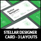 Stellar Designer Card - GraphicRiver Item for Sale
