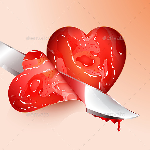 Cutting Meat Shape Heart - Valentines Seasons/Holidays