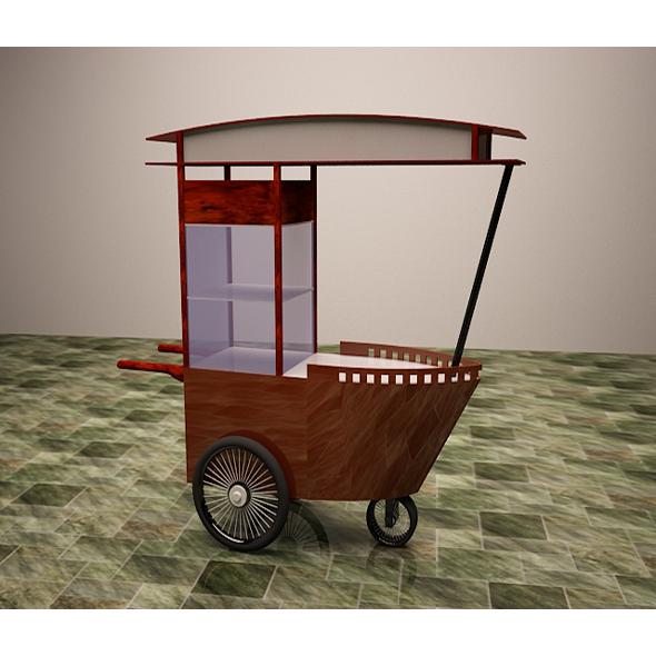 Satay Cart - 3DOcean Item for Sale