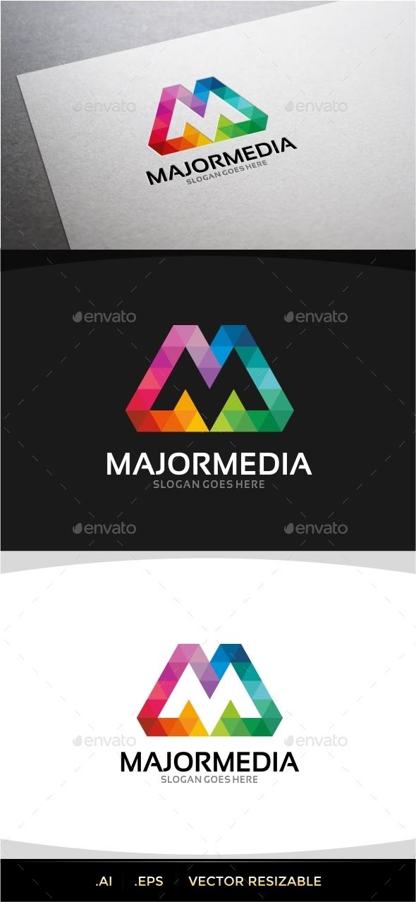 Majormedia M Letter Logo - Letters Logo Templates