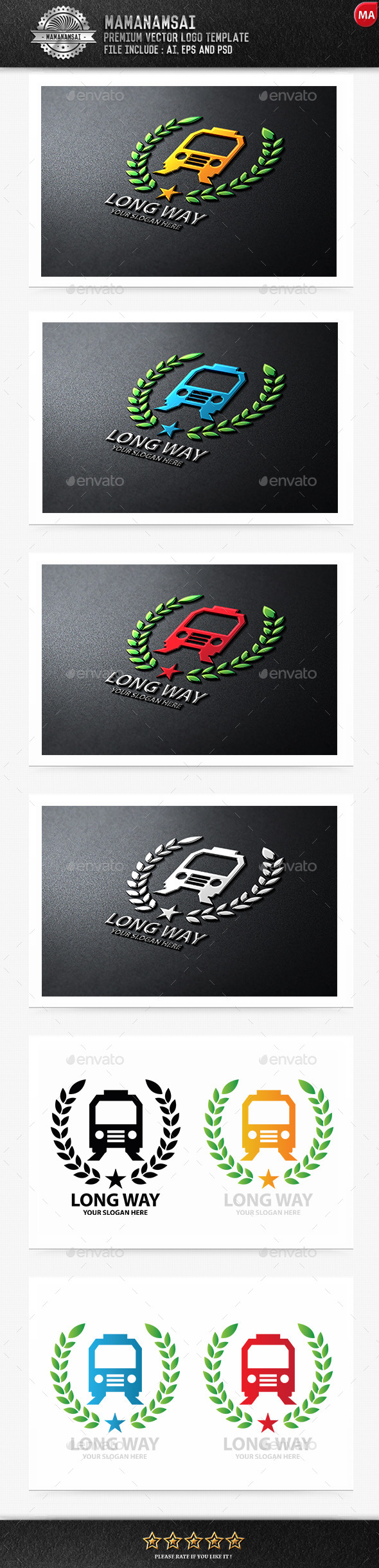 Long Way Logo - Symbols Logo Templates