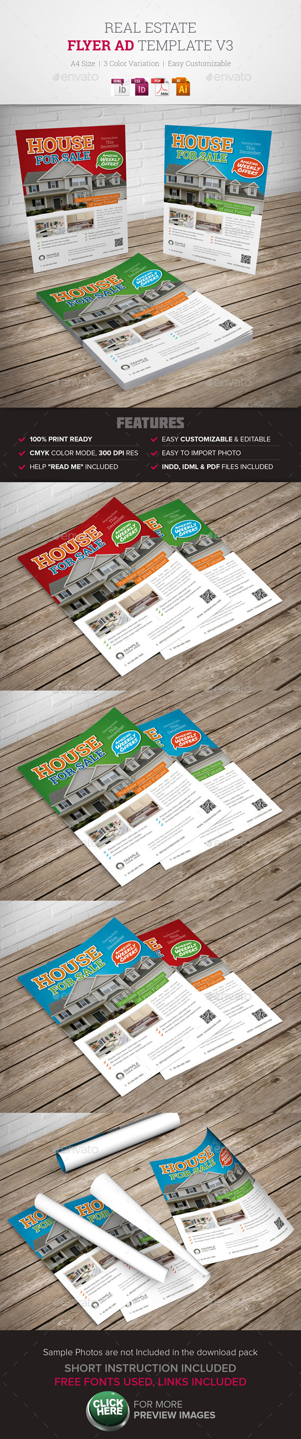 Real Estate Flyer Ad v3  - Corporate Flyers