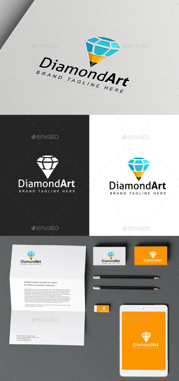 Diamond Art logo - Vector Abstract